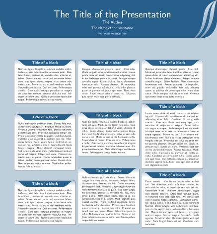 一个基础article类制作的学术海报模板